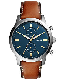 Fossil Townsman Collection Leather Strap Watches