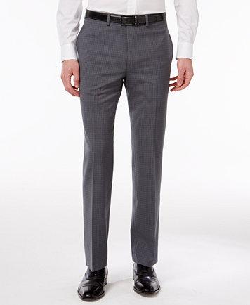 Calvin Klein Men's Extra Slim-Fit Gray Plaid Dress Pants - Pants - Men -  Macy's