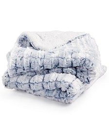 Elle Home Reversible Micromink to Faux-Sherpa Tie-Dye Throw
