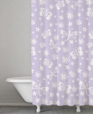 kassatex kassa kids cotton butterfly shower curtain - Kassatex