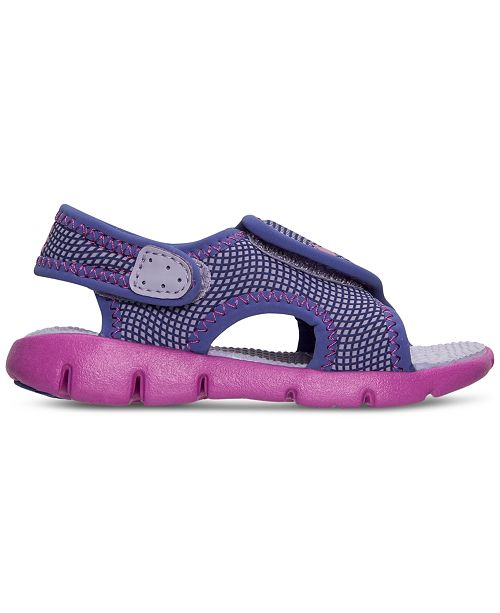 0bbb52ace07b ... Nike Toddler Girls  Sunray Adjust 4 Sandals from Finish Line ...