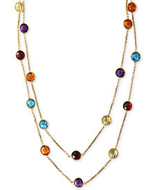 "EFFY® Multistone Long 43"" Strand Necklace (28-9/10 ct. t.w.) in 14k Gold"