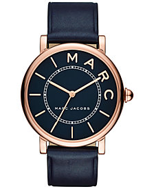 Marc Jacobs Women's Roxy Navy Leather Strap Watch 36mm
