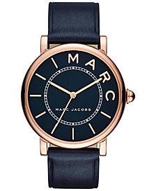 Marc Jacobs Women's Roxy Navy Leather Strap Watch 36mm