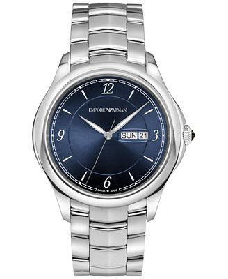 Emporio Armani Men's Swiss Automatic Stainless Steel Bracelet Watch 43mm ARS8602