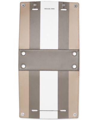 MICHAEL Michael Kors Selma Swap Soft Box Stripe Medium Top Zip Satchel  Cover - Handbags \u0026 Accessories - Macy\u0027s