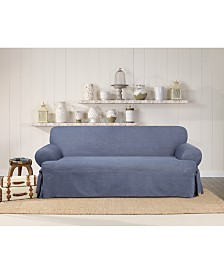 Sure Fit Authentic Denim One Piece Sofa Slipcover