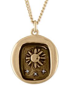 RACHEL Rachel Roy Gold-Tone Sun Talisman Pendant Necklace