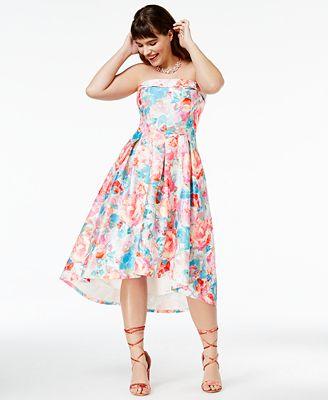 City Chic Trendy Plus Size Strapless High-Low Dress - Dresses ...