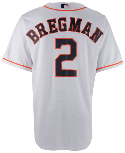 timeless design 72085 8994c Men's Alex Bregman Houston Astros Player Replica CB Jersey