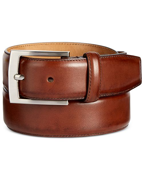 Tasso Elba Men s Feather-Edge Leather Dress Belt b70c00a723e5