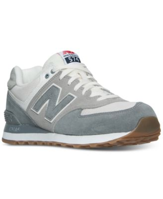 new balance ml 574 - sneaker - navy\/white curtains