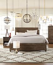 SHOP THE LOOK: Canyon Queen Bed & 40% off Industrial-Chic Lighting