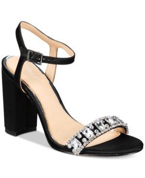 Jewel Badgley Mischka Hendricks Block-Heel Evening Sandals Women