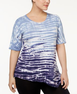 Calvin Klein Peformance Plus Size Tie-Dyed Top