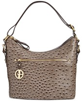 be01f28cfb Giani Bernini Embossed Faux Ostrich Hobo