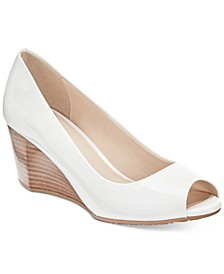 Sadie Open-Toe Wedge Pumps