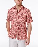 Tasso Elba Men's Silk & Linen Pineapple Shirt, Only at Macy's
