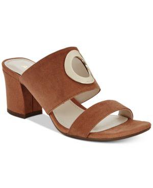 Anne Klein Naomi Block-Heel Sandals