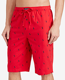 Polo Ralph Lauren Men's Cotton Logo Pajama Shorts