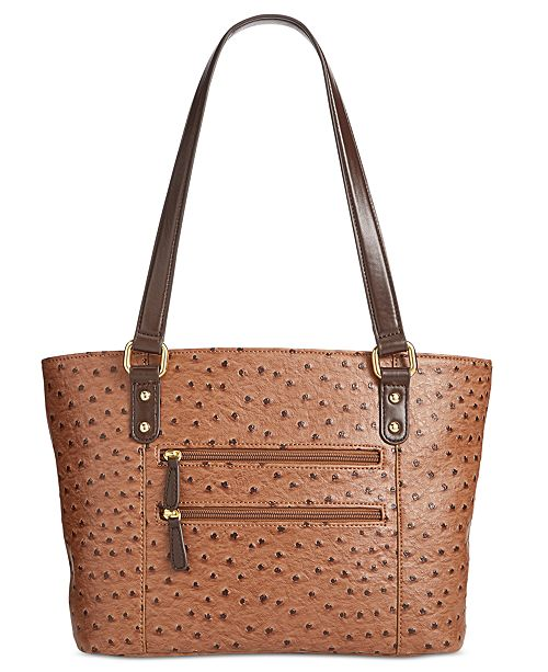 549541112a07 Giani Bernini Ostrich-Embossed Tote, Created for Macy's & Reviews ...