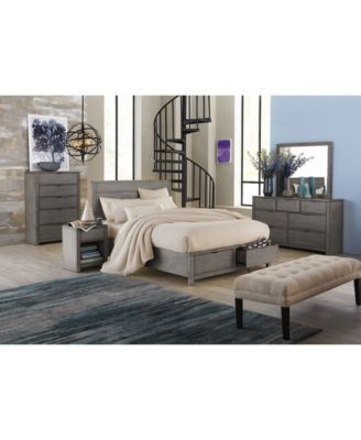 Attractive Tribeca Grey Storage Platform Bedroom Furniture Collection, Created For  Macyu0027s