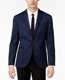 Kenneth Cole Reaction Men's Slim-Fit Blue Birdseye Dinner Jacket