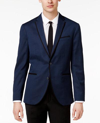 Kenneth Cole Reaction Men's Slim-Fit Blue Birdseye Dinner Jacket ...