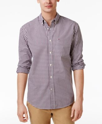 Image of Tommy Hilfiger Men's Long-Sleeve Twain Check Classic Fit Shirt