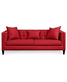 "Braylei 88"" Fabric Track Arm Sofa, Created for Macy's"