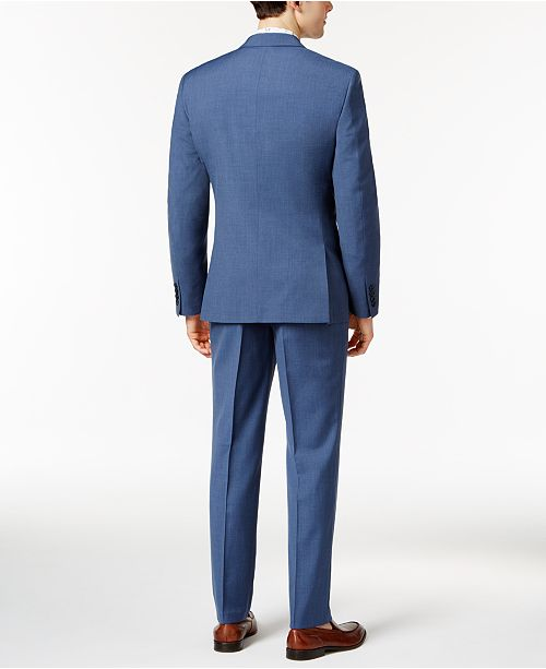 Bar Iii Men S Dusty Blue Solid Slim Fit Suit Separates Created For Macy Suits Tuxedos