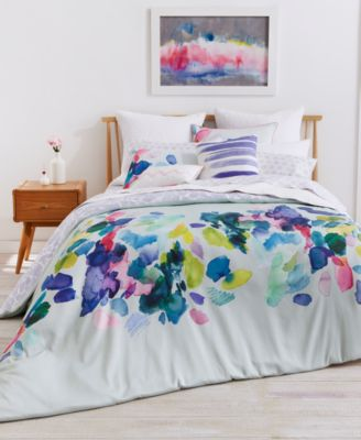 Exceptional Image 3 Of Bluebellgray Palette Mint Cotton Reversible Full/Queen Duvet Set