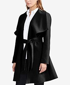 Lauren Ralph Lauren Crepe Open-Front Coat