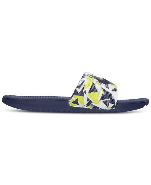e36f79f93d84 Nike Men s Kawa Print Slide Sandals from Finish Line   Reviews ...