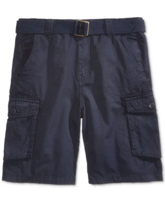 Image of Ring of Fire Belted Cotton Cargo Shorts, Big Boys (8-20)