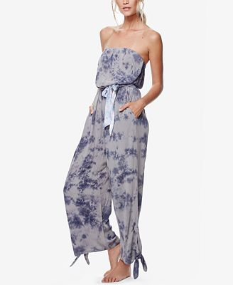 Free People Just Float Strapless Jumpsuit