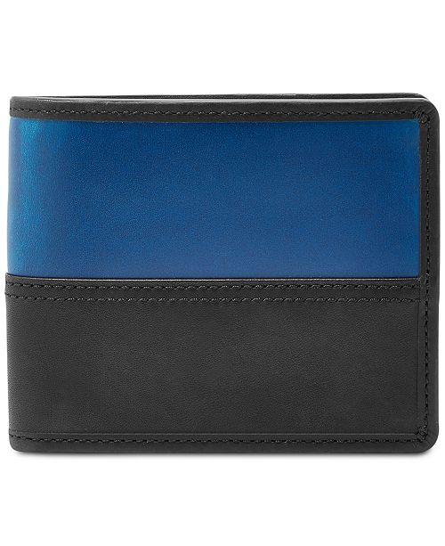 Men's Tate RFID Leather Flip ID Bifold Wallet
