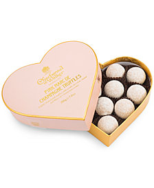 Charbonnel et Walker Pink Marc de Champagne Heart Box
