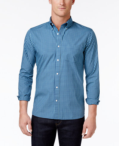 Brooks Brothers Red Fleece Men's Cotton Gingham Button-Down Shirt ...