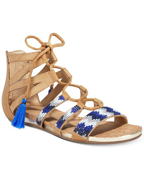 02605a49dd0 ... Kenneth Cole Reaction Women s Lost Look 2 Lace-Up Gladiator Sandals ...