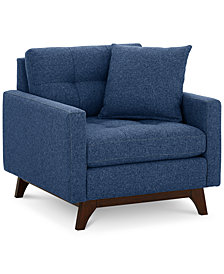 "Nari 36"" Fabric Tufted Armchair - Custom Colors, Created for Macy's"