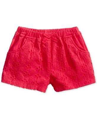 First Impressions Eyelet Cotton Shorts, Baby Girls (0-24 months), Created for Macy's