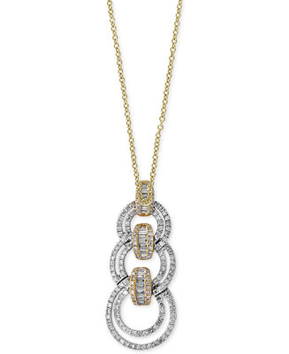 EFFY Collection Duo by EFFY® Diamond Link Pendant Necklace