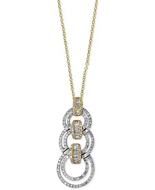 Duo by EFFY® Diamond Link Pendant Necklace (7/8 ct. t.w.) in 14k Gold and White Gold
