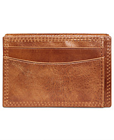 Tasso Elba Men's Leather Flip Card Case