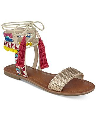 indigo rd. Doe Lace-Up Tasseled Sandals