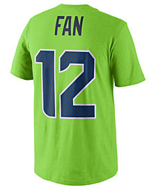 Nike Fan #12 Seattle Seahawks Pride Name and Number T-Shirt, Big Boys