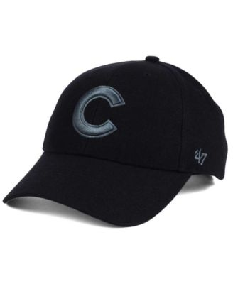 buy online 76f17 5035d  47 Brand Chicago Cubs MVP Black and Charcoal Cap.