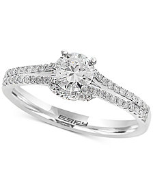 EFFY® Infinite Love Diamond Engagement Ring (3/4 ct. t.w.) in 18k White Gold