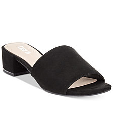 Bar III Jane Block-Heel Slide Sandals, Created for Macy's